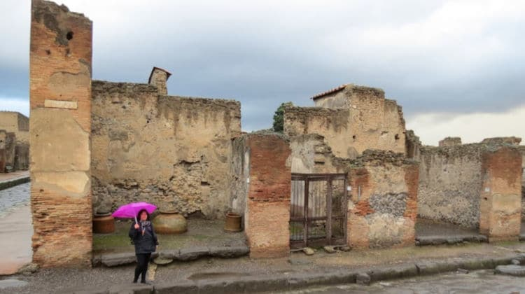 Pompeii in the rain