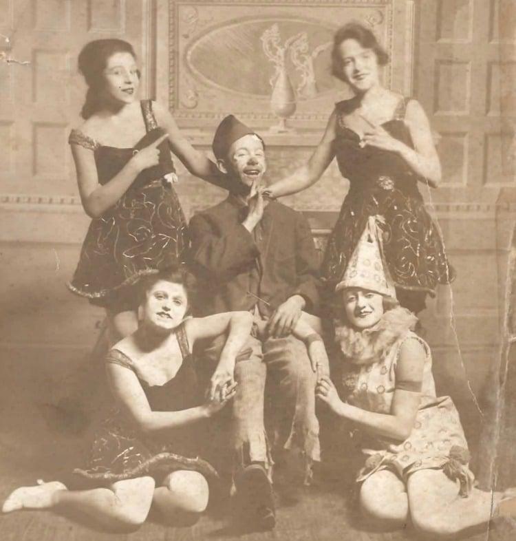 My Grandmother Miriam West (top left) - Vaudeville 1918 New York