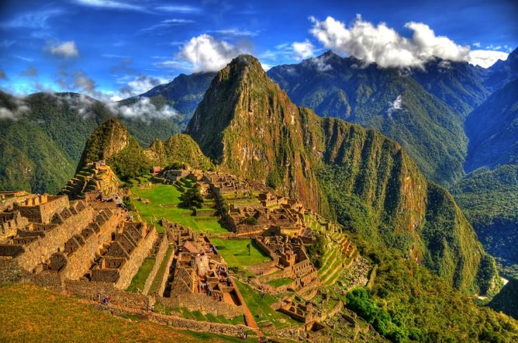 The ruins of the lost city of Machu Picchu, Peru