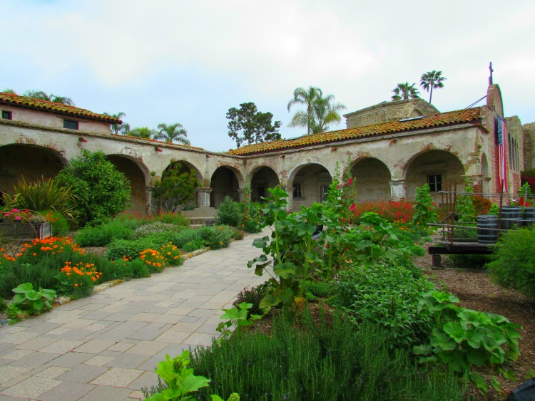 A view of the Mission at San Jaan Capistrano, one of the most beautiful missions in California