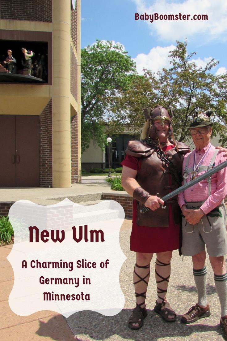 George L. Glotzbach with Hermann the German in New Ulm, Minnesota - Charming #Germantown #NewUlm #Minnesota #GermanAmerican