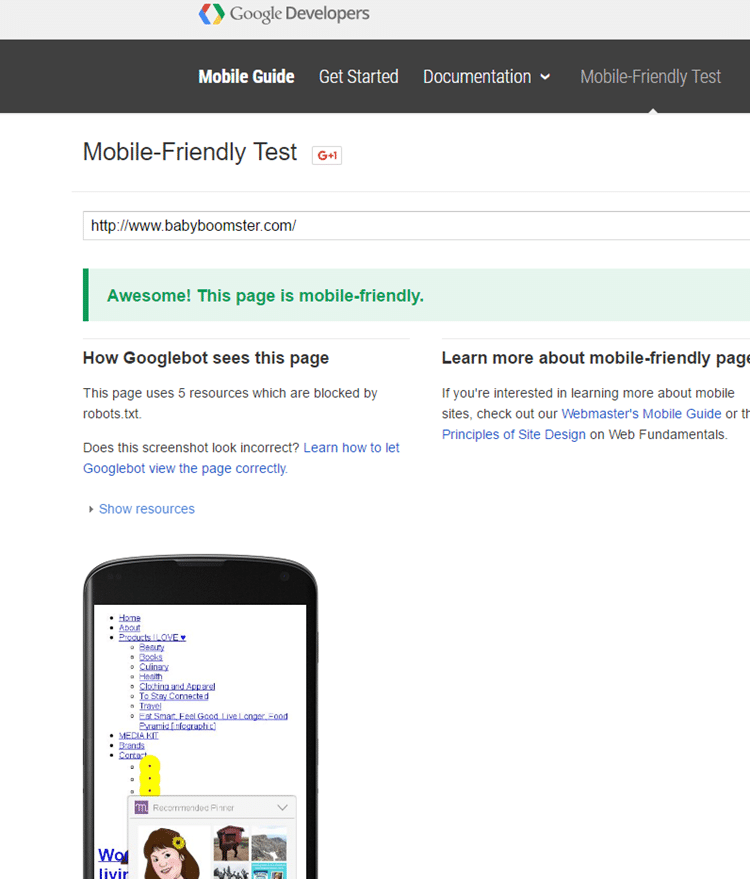 Make sure your blog is mobile friendly