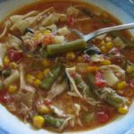 Homemade Bone Broth Chicken Soup with Vegetables