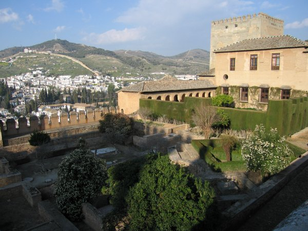 Baby Boomer Travel | Granada, Spain | Alhambra Garden overlooking Sacromonte