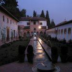 Baby Boomer Travel | Granada, Spain | Patio de Acequia Generalife night