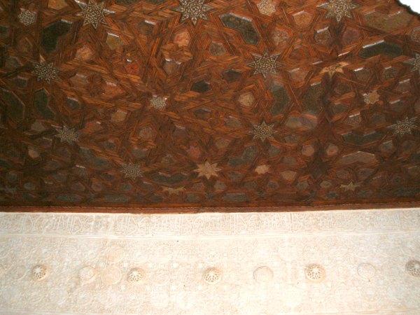 Baby Boomer Travel | Granada, Spain | Alhambra inlaid wood ceiling