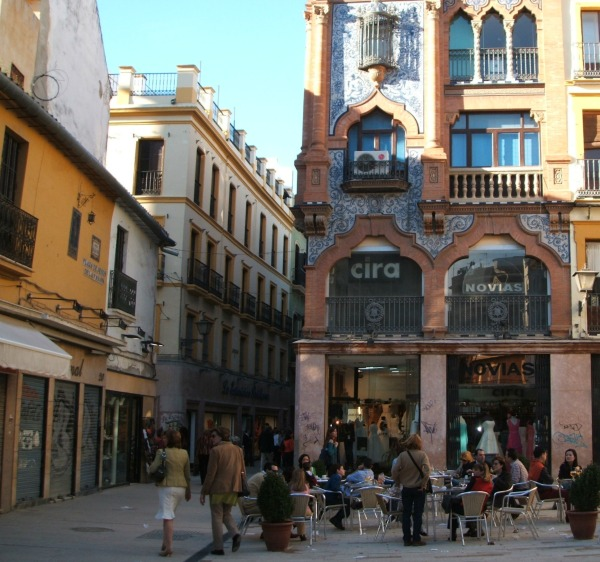 Baby Boomer Travel | Seville, Spain | Cafe and Street