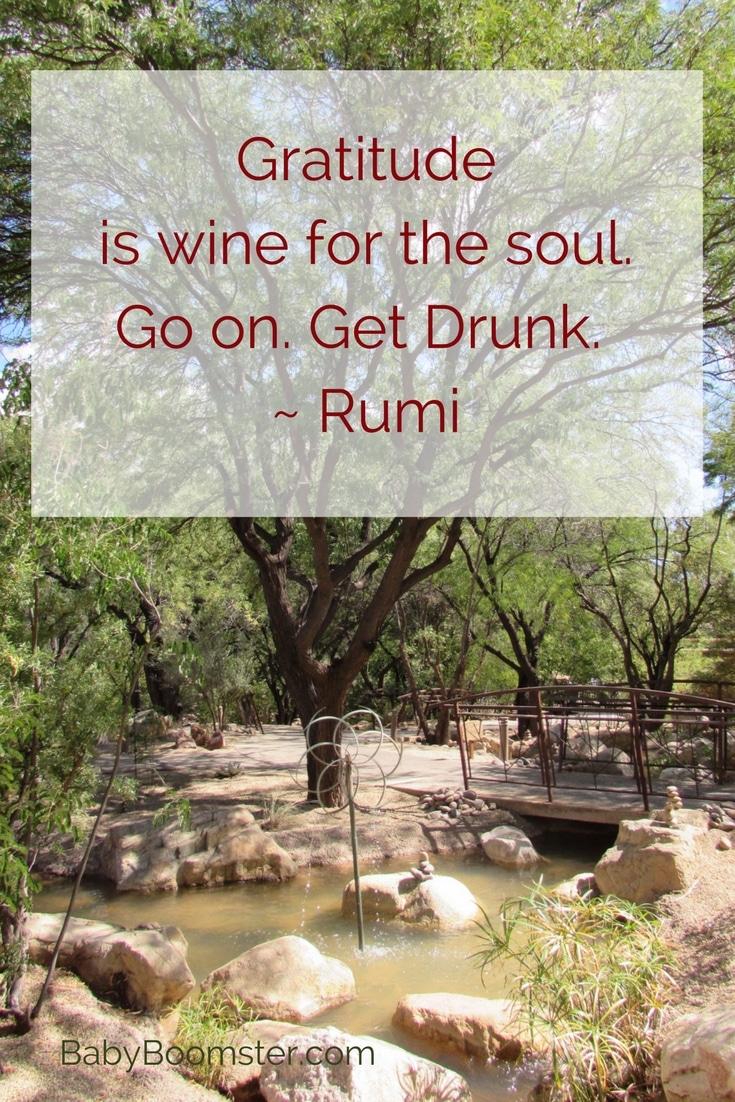 Baby Boomer Women | Quotes | Gratitude - Rumi