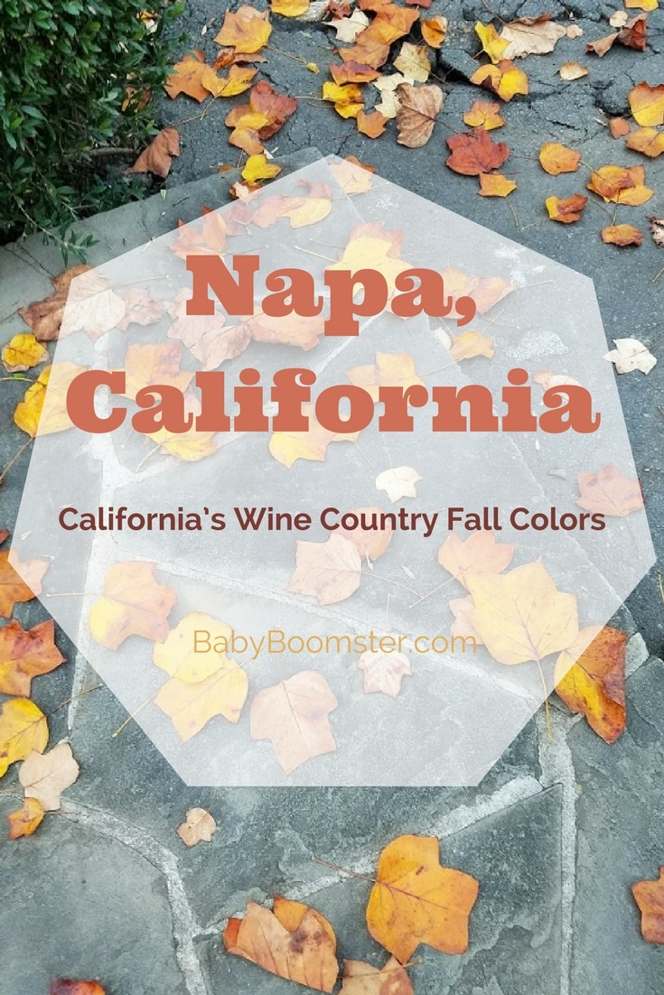Baby Boomer Travel | Napa, California | Fall Colors in Wine Country