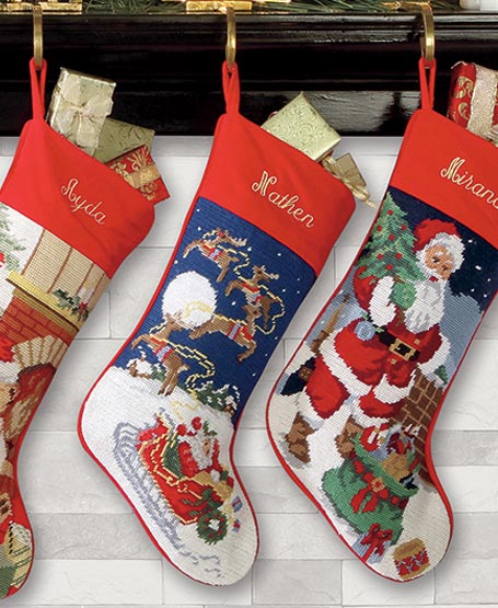 Personalized #Christmas stockings for your family members - all things personalized at Lillian Vernon #holidays #gifts #personalized