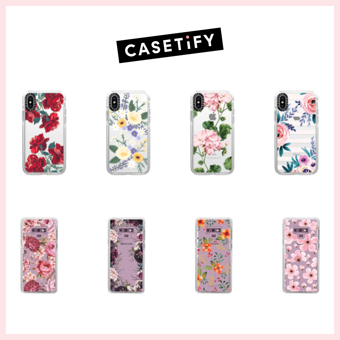 Casetify smartphone cases are feminine and fun. Perfect for Galentine's Day or other special occasions. They have cases for all your other electronic items too.