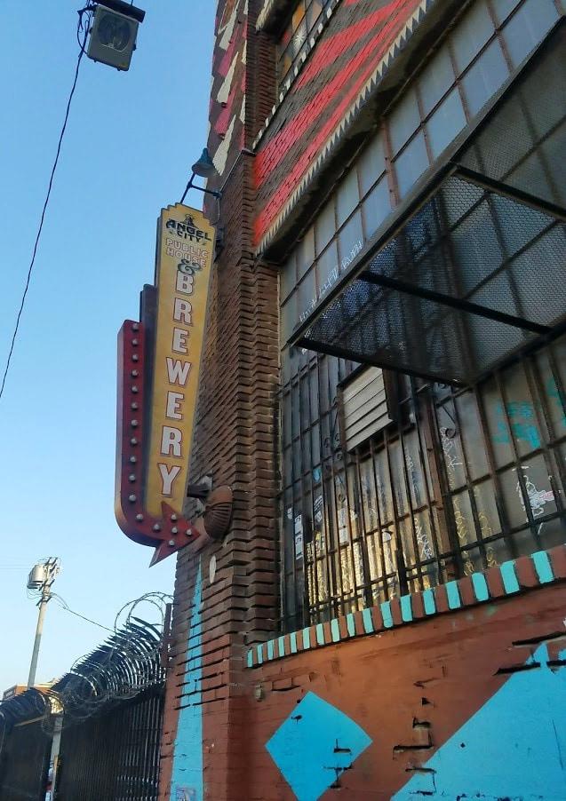 Baby Boomer Travel | Street Art | Angel City Brewery LA sign