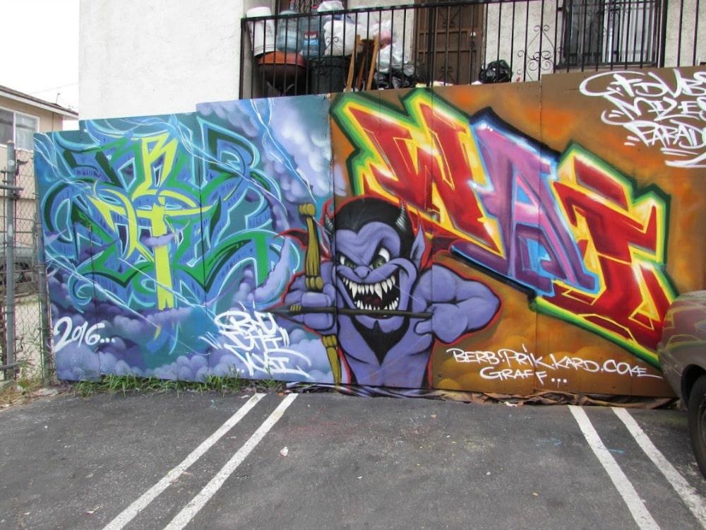 Baby Boomer Travel | Street Art | Boyle Heights | Devil Mural