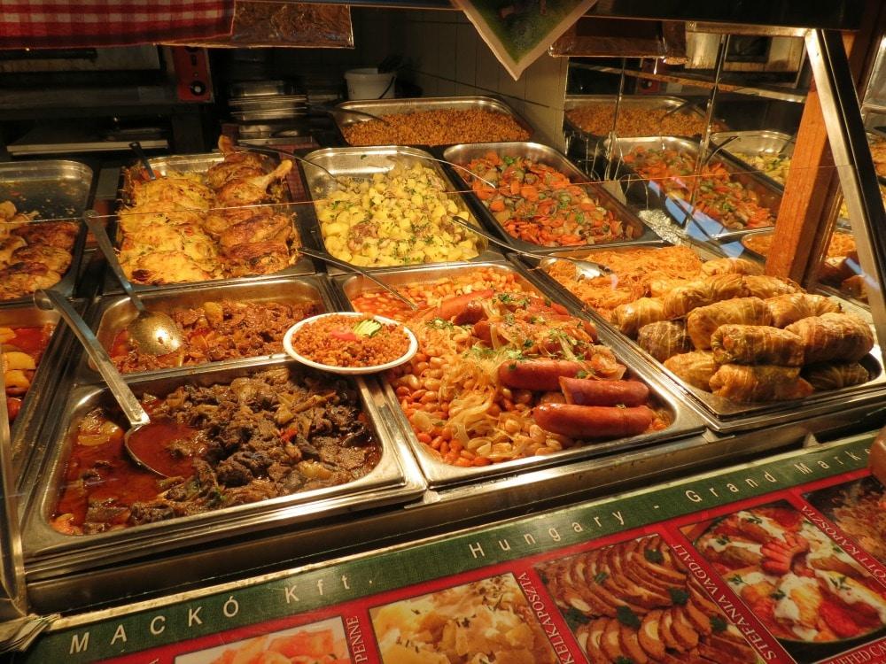Boomer Travel | Travel Tips | Budapest Grand Market food vendor
