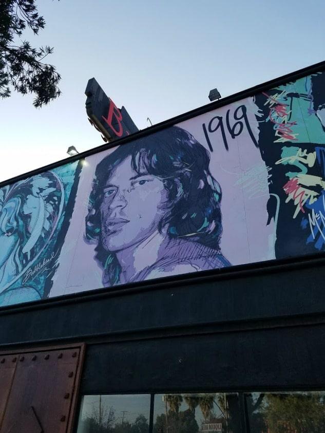 Baby Boomer Travel | Street Art | Burbank | Bubblehead - Mick Jagger