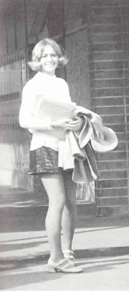 Baby Boomers   High School   Girl in Mini Skirt 1971