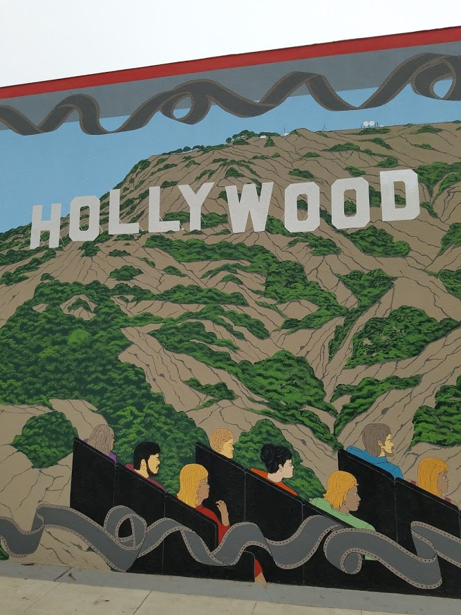 LA Connection on Magnolia Blvd in Burbank - Hollywood Theater Street Art #streetart #wallart #artists #mural #muralart
