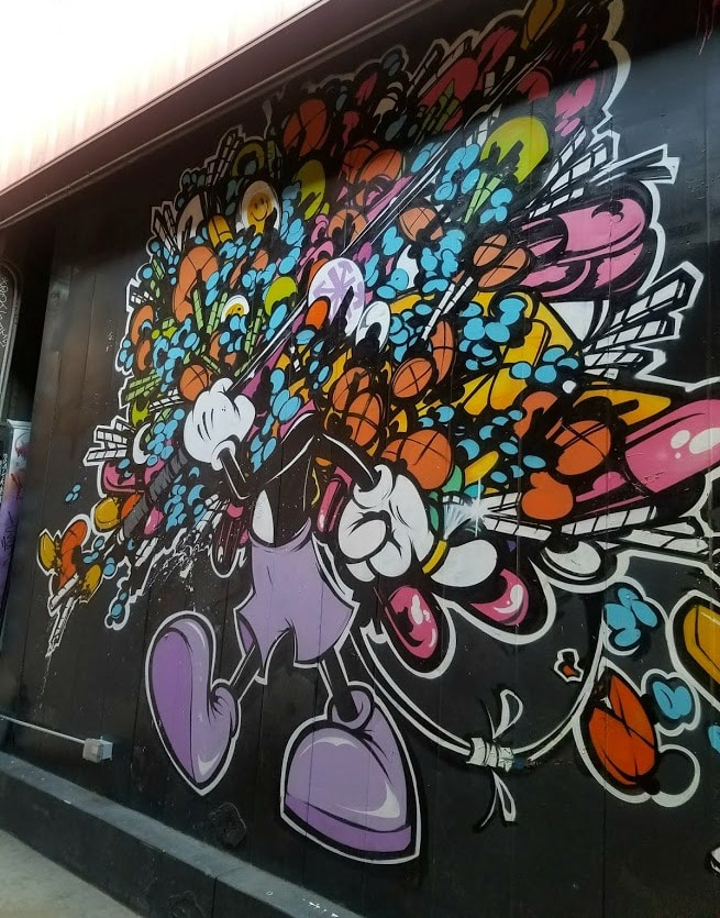 Baby Boomer Travel | Street Art | LA Arts District | Cartoon Wall Mural