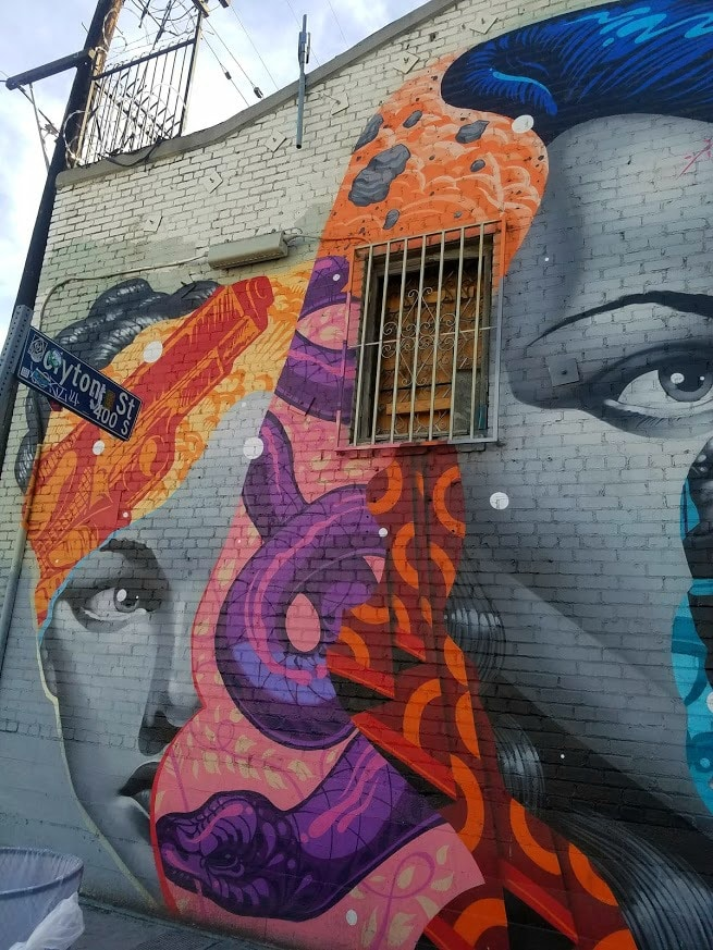 Part of a mural by Tristan Eaton in the #LAArtsDistrict #LosAngeles #LAart