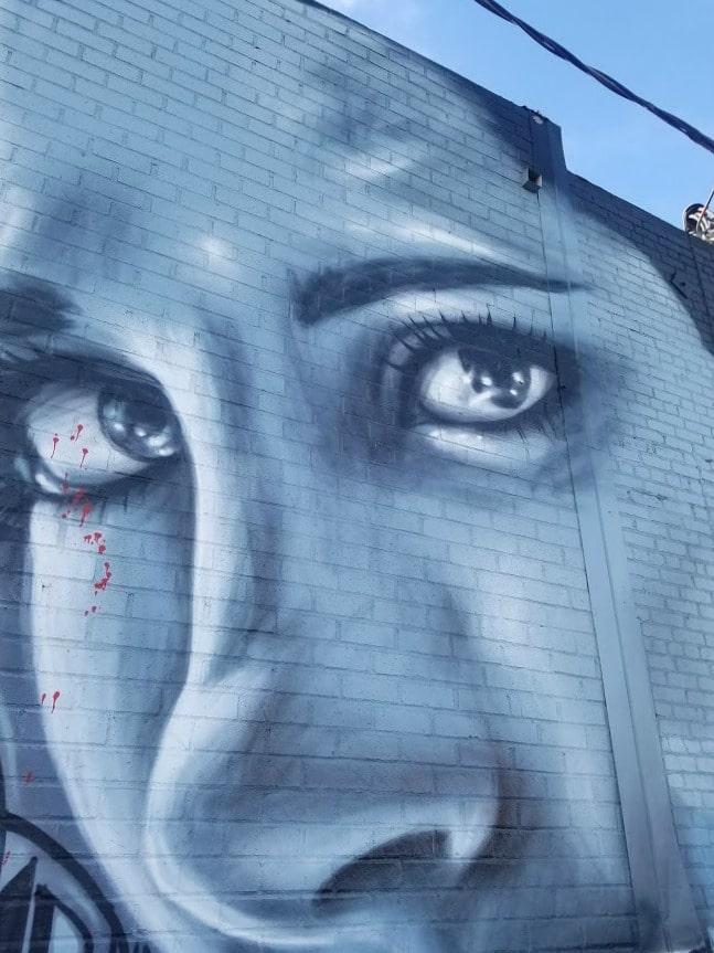 Baby Boomer Travel | Street Art | LA Arts District | Woman's Face