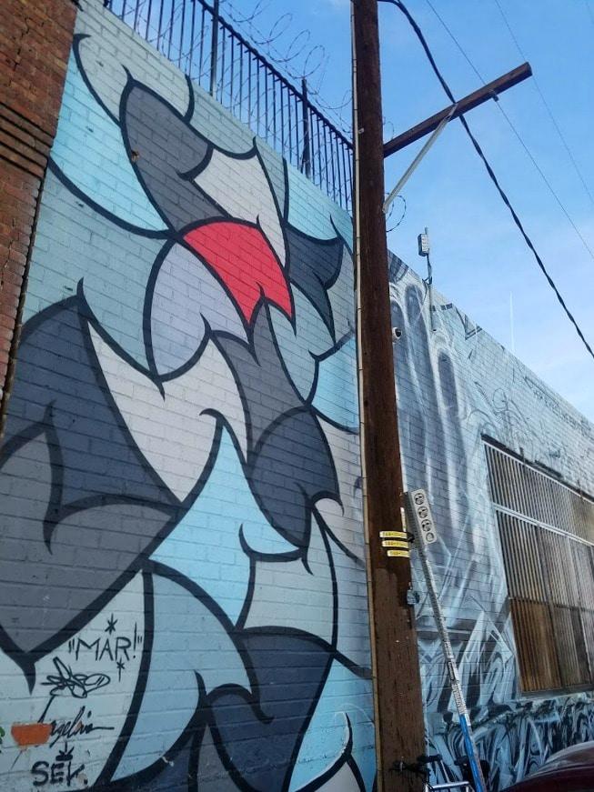 Baby Boomer Travel | Street Art | LA Arts District | Mural by MAR