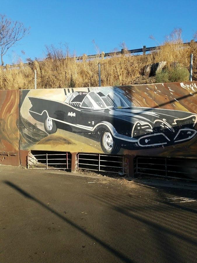 Baby Boomer Travel | Street Art | NOHO | Car Mural near freeway