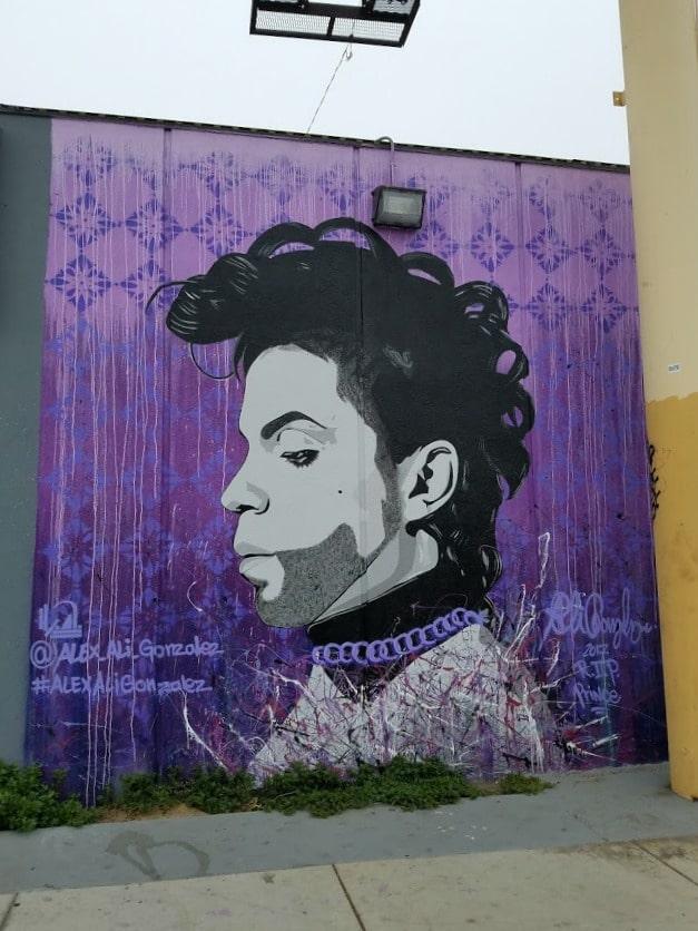 Mural of Prince on Cahuenga Blvd in North Hollywood - NOHO #streetart #mural #wallart #valleyart #Prince