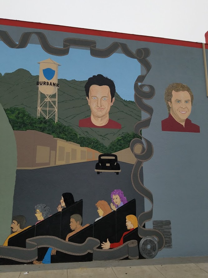 LA Connection founders and theater street art on Magnolia Blvd Burbank #streetart #wallart #artists #mural #muralart