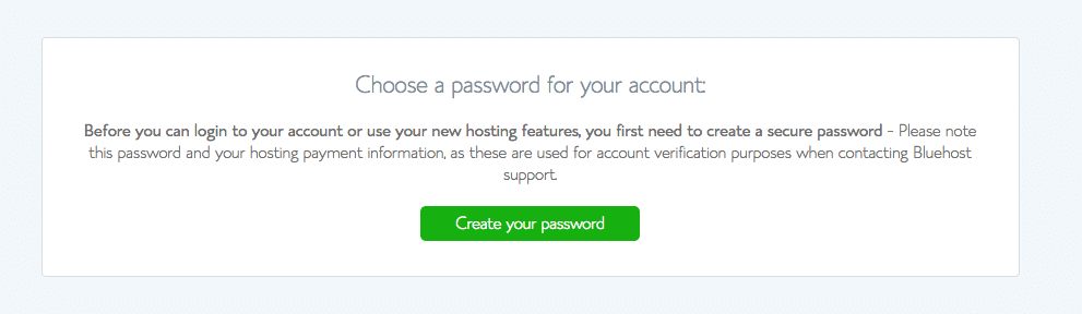 Baby Boomer blogging | hosting | Bluehost add a password