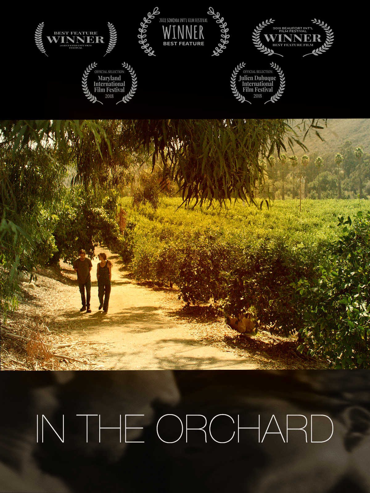 In the Orchard is an independent film that has won multiple awards at film festivals including Sonoma International film festival, Culver City Film Festival and Beaufort Film Festival #film #independentfilm. It is the story of a homeless veteran and a woman who has just lost her family.  #Veteran