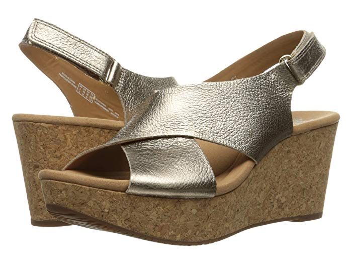 This pair of Clark's Annadel Eirwyn sandals are perfect for a party or other special occasion. They're soft and comfy but look snazzy any where you go. #Clarks #Shoes #Sandals #fashionover50 #Styleover50 #comfortableshoes