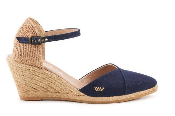 Caseta Canvas Wedges in Navy by Viscata Barcelona #Espadrilles #shoes #casualshoes #affiliate