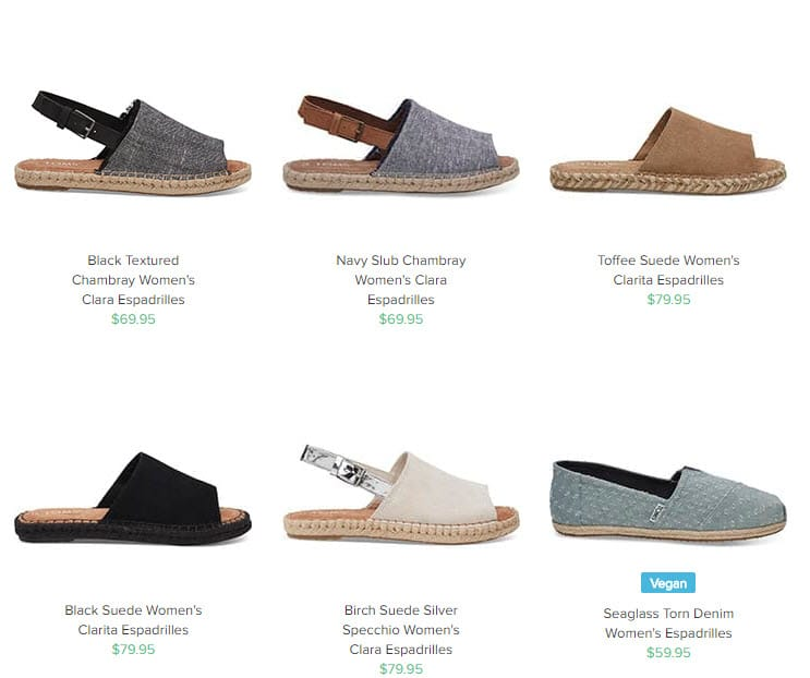 Baby Boomer Women | Fashion Over 50 | Toms Espadrilles