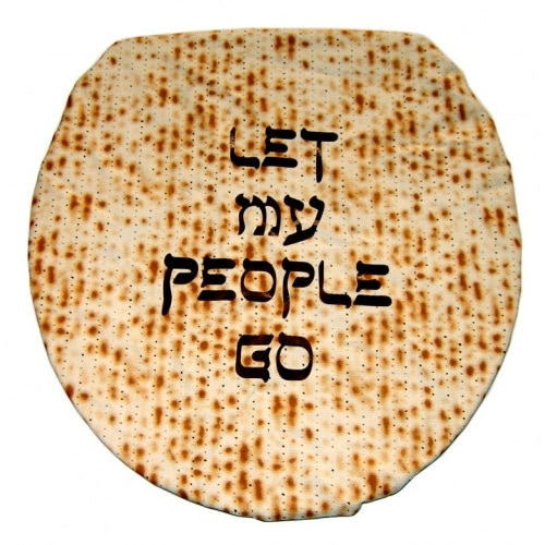 Jewish gifts from Davida Aprons - The Let My People Go Toilet Seat Cover