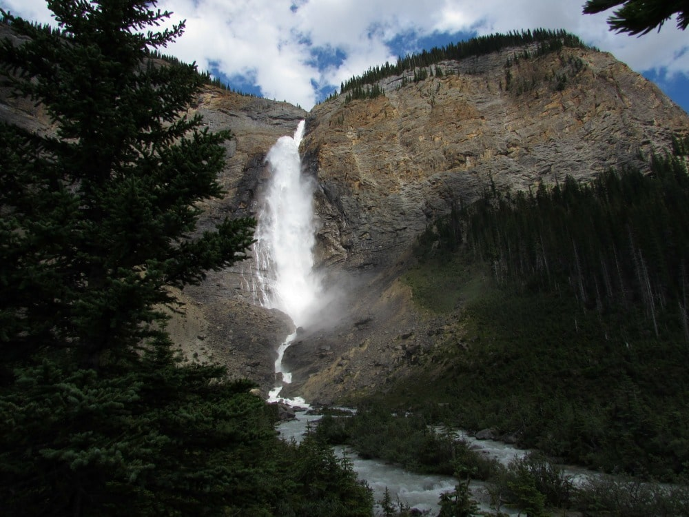 Takakkaw Falls in Yoho National Park - BC Canada - One of the highest waterfalls in the region