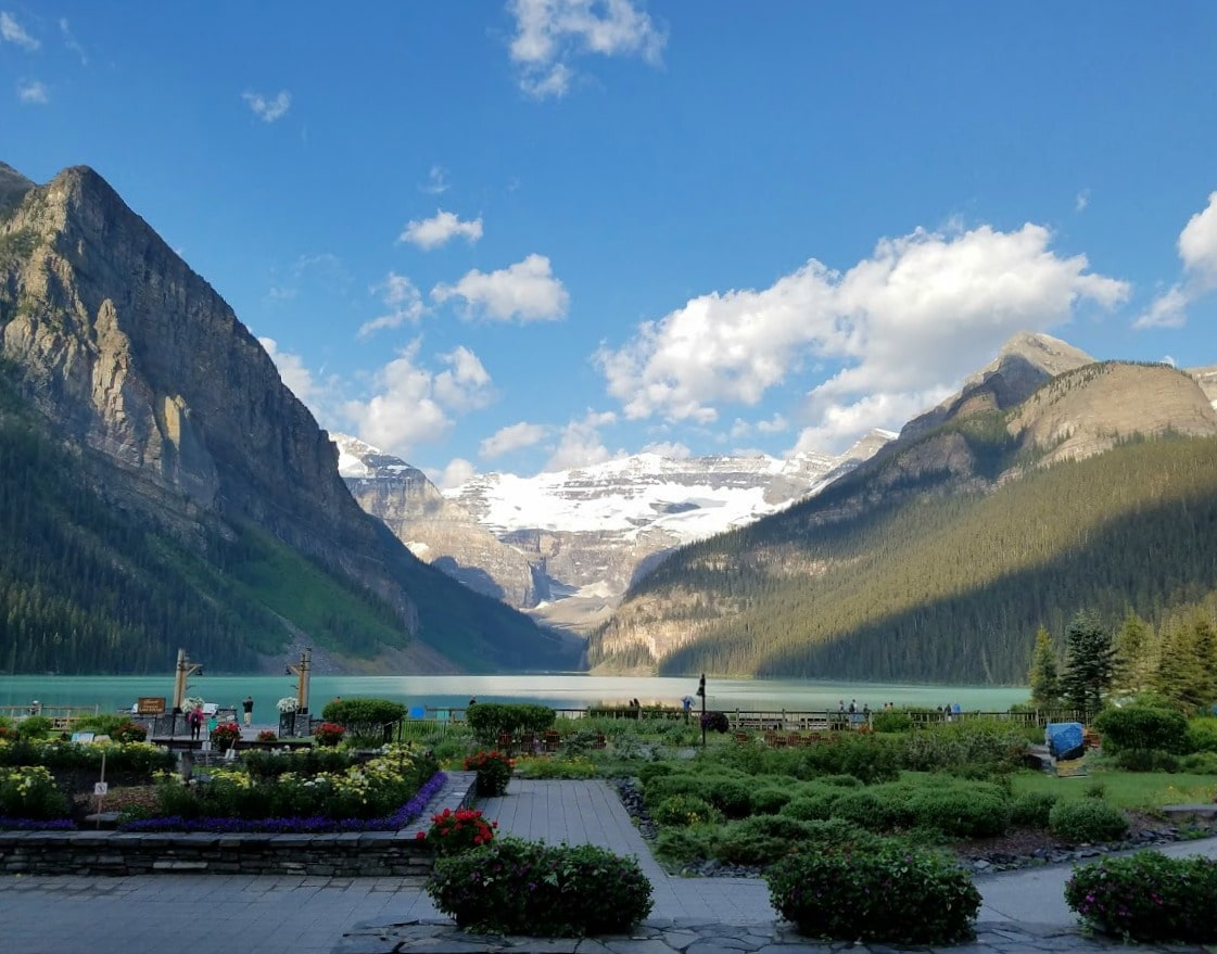 View from the Fairmont Chateau at Lake Louise -#Canada #LakeLouise