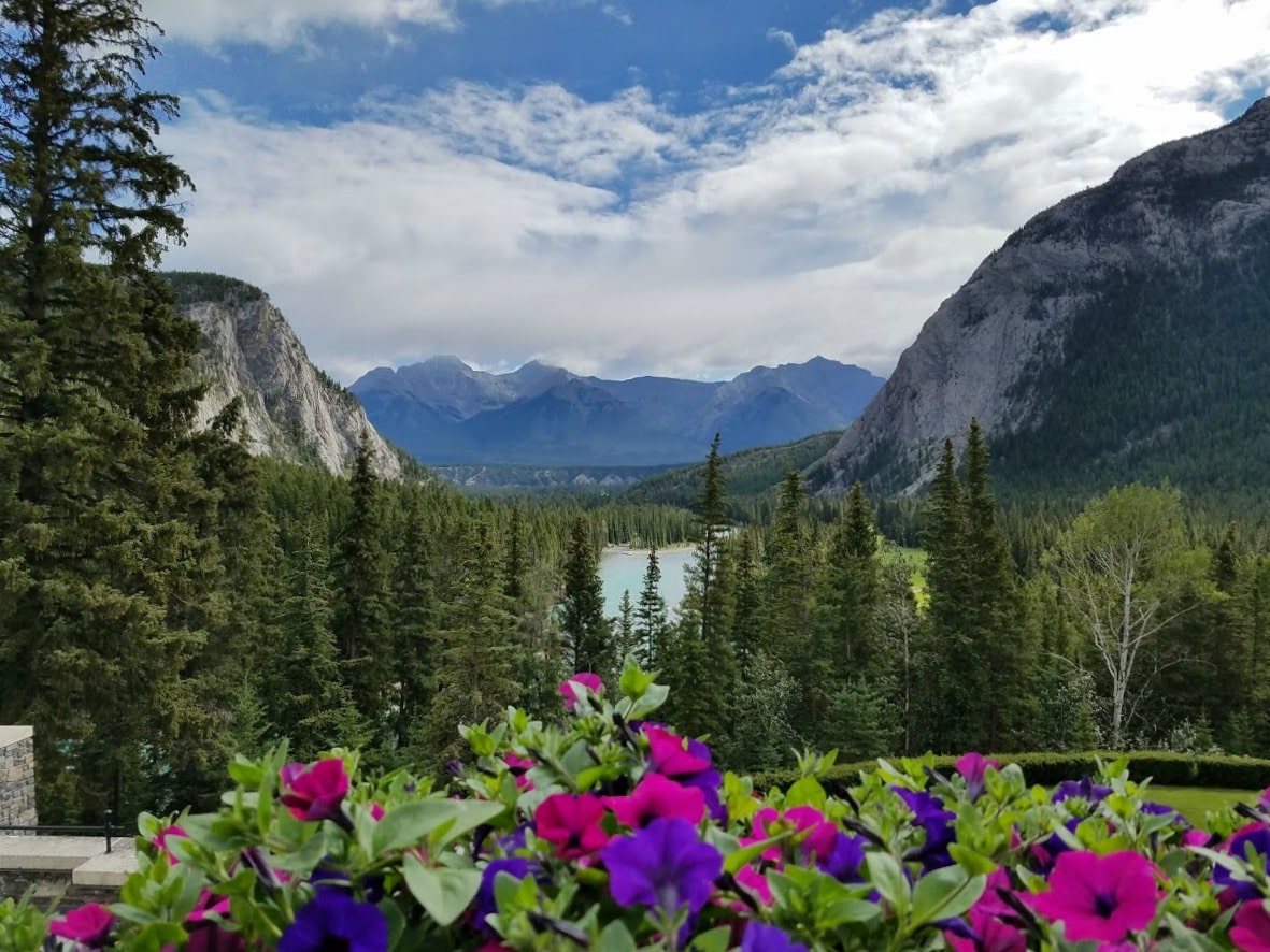 A magnificent view of #BanffNationalPark from the #BanffSpringsHotel in #Banff #Canada #hotel