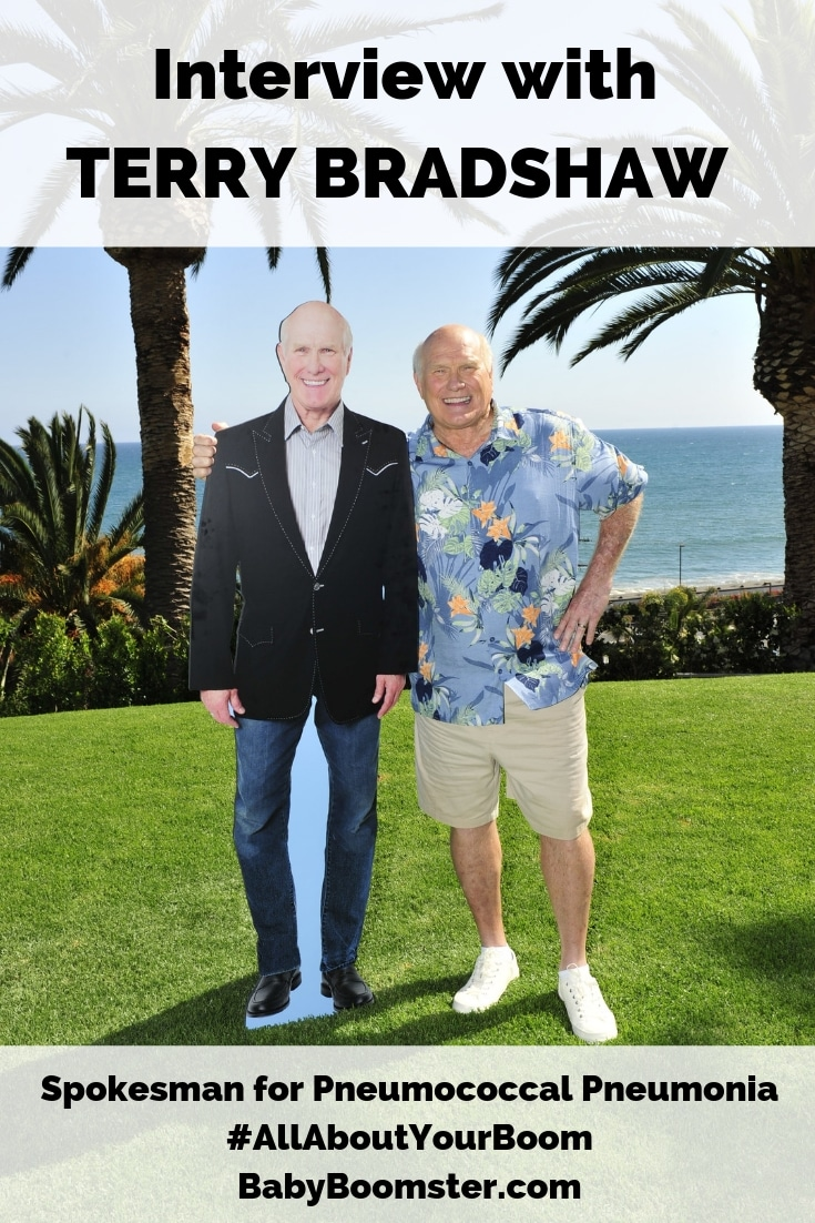 An #interview with Terry Bradshaw who is the spokesman for pneumococcal pneumonia #AllAboutYourBoom campaign #wellness #celebrity #babyboomers #over50 #vaccination