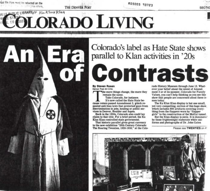 Racism has existed in the United States for a long time even in places you don't expect like Colorado