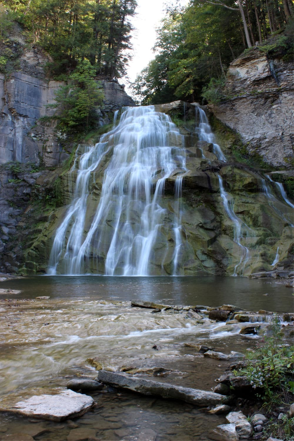 Delphi Falls in Central State New York - #travel #NewYork #waterfalls