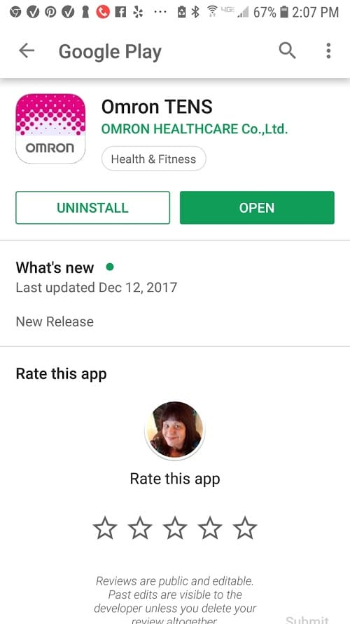 Omron TENS app on Google Play - #ad #healthcare #app #OmronHealthcare #Avail