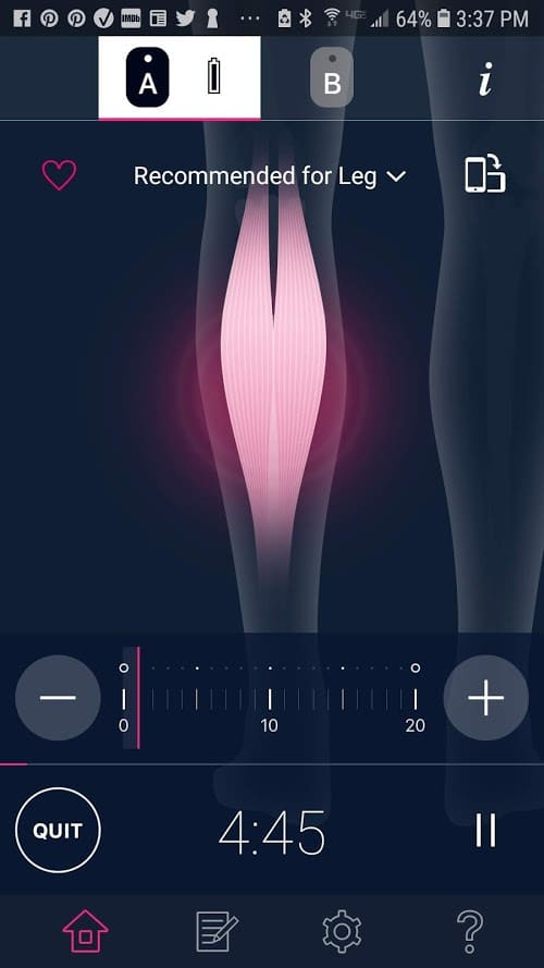 Omron TENS app ready to start #ad #Omronhealth #app #healthcare #painrelief