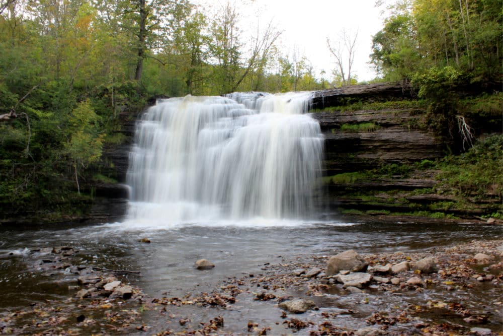 Pixley Falls Waterfall in Central State New York - #travel #NewYork #waterfalls
