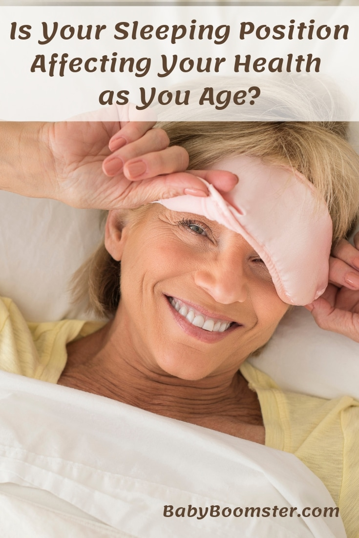 Is your sleeping position affecting your health as you age? #healthtips #sleep #bed #babyboomers #midlife #women