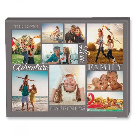 The Adventure Collage Photo Canvas is just one of the personalized gifts you can get from Lillian Vernon. Perfect to preserve memories of a family adventure. #gifts #giftideas #photos #personalized #LillianVernon #AD #affiliate
