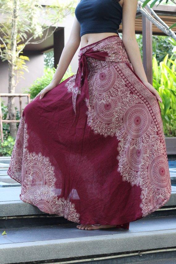 Etsy - BOHO maxi skirt to bring your hippie back on. #BOHO #skirt #bohemian #hippie #fashionover50 #styleover50