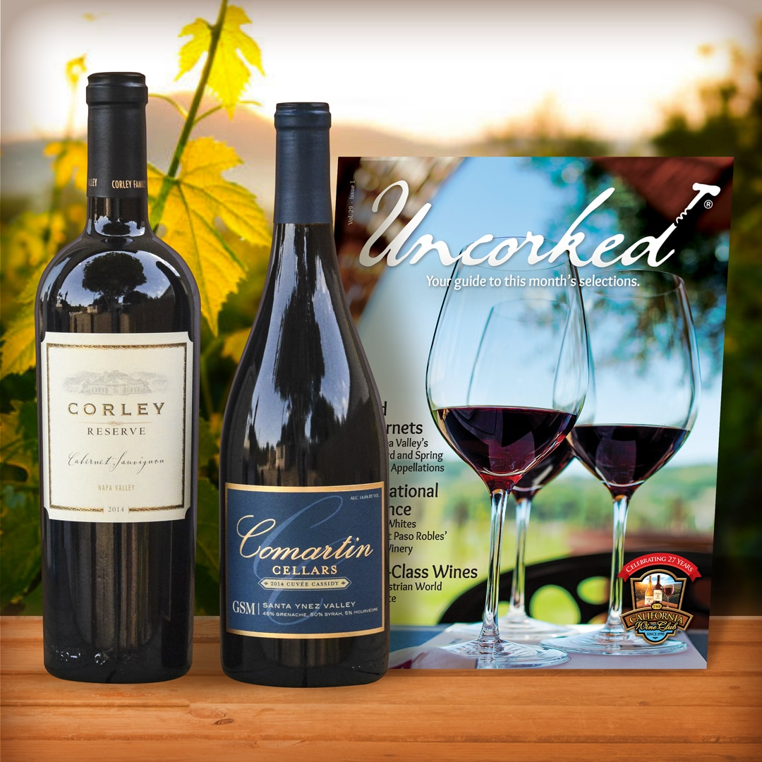 California Wine Club Signature Series. Receive artisan wine from small California cellars at several wine club levels and VIP benefits. #AD #Californiawine #winetasting #wineries #wineclub #CaliforniaWineClub