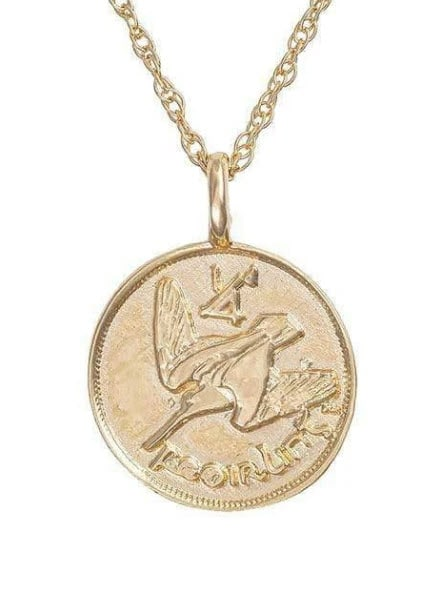 Gold Farthing necklace by Chupi