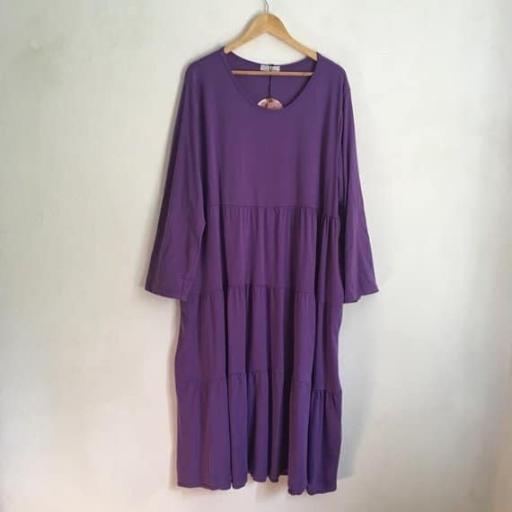 Etsy - Italian cotton dress in plus size - Beautiful and attractive for all body shapes in purple - Find Unique gifts on Etsy