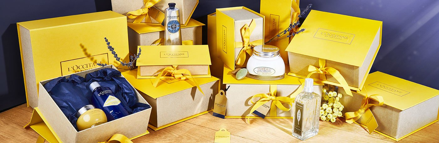 L'Occitane en Provence has beautiful gifts of skincare and beauty from Provence, France